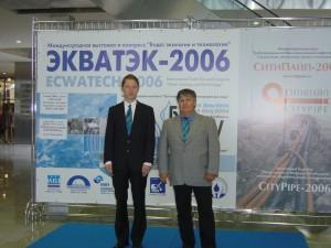 Dr Elmar Fuchs (p.) i mgr. inż. Johannes Lerch (l.) na Konferencji Wody w Rosji